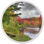 A Place To View Autumn Round Beach Towel