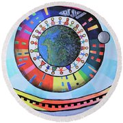 A Pleasant Fiction Round Beach Towel