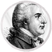 A Portrait Of Benedict Arnold Round Beach Towel