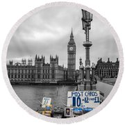 A Postcard From London Round Beach Towel