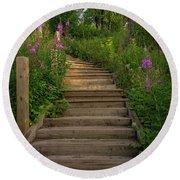 A Promising Path Round Beach Towel by Heidi Hermes