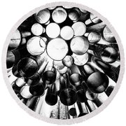A Question Of Perspective 2 Sibelius Monument Round Beach Towel