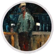 F 772  Holy Hour A Pint And A Spare. Round Beach Towel