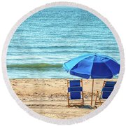 A Quiet Place In Spring Lake Round Beach Towel