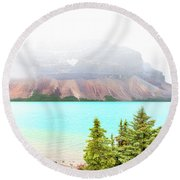 Round Beach Towel featuring the photograph A Quiet Place by John Poon