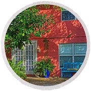 Round Beach Towel featuring the photograph A Quiet Respite by HH Photography of Florida