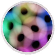 A Rainbow Of Circles Round Beach Towel