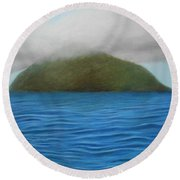 Hope- The Island  Round Beach Towel