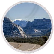 Round Beach Towel featuring the photograph A Road To Follow by Everet Regal