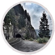 A Road To Nowhere Round Beach Towel