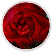 A  Rose Is Round Beach Towel