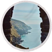 A Room With A View Round Beach Towel by Richard Brookes