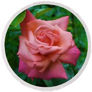 A Rose In Spring Round Beach Towel