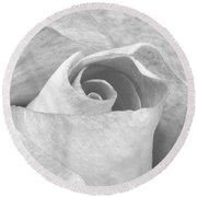 A Rose Is A Rose Black And White Floral Photo 753  Round Beach Towel