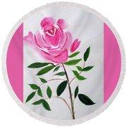 A Rose  Round Beach Towel