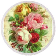 A Rose Speaks Of Love Round Beach Towel by Tina LeCour