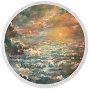 A Sea Of Clouds Round Beach Towel