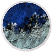 Round Beach Towel featuring the digital art A Sea Storm In My Heart by Silvia Ganora