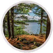 A Secluded Spot Round Beach Towel