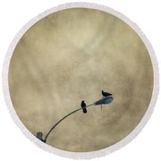 A Short Moment Round Beach Towel by Priska Wettstein