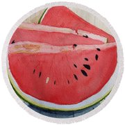 A Slice Round Beach Towel by Rand Swift