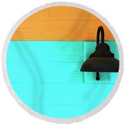 A Solitary Light Round Beach Towel