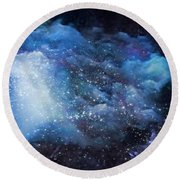 A Soul In The Sky Round Beach Towel by Gun Legler