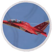 A Special Painted Yak-130 Performing Round Beach Towel by Daniele Faccioli