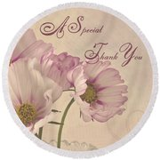 A Special Thank You - Card Round Beach Towel
