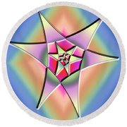 Round Beach Towel featuring the digital art A Splash Of Color 1 by Chuck Staley