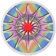 Round Beach Towel featuring the digital art A Splash Of Color 2 by Chuck Staley