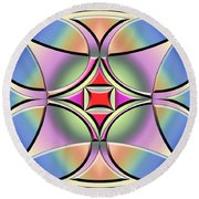 Round Beach Towel featuring the digital art A Splash Of Color 4 by Chuck Staley