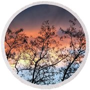 Round Beach Towel featuring the photograph A Splendid Silhouette by Will Borden