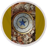 A Star Is Still A Star Even If It's Rusty Round Beach Towel