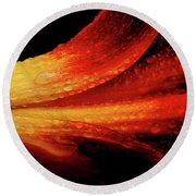 A Summer Time Lily Round Beach Towel