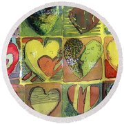 A Sunny Valentine Round Beach Towel by Mindy Newman