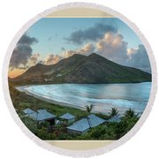A Sunset On Bay Round Beach Towel
