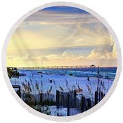 A Taste Of Heaven Round Beach Towel