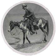 A Texas Pony, 1889  Round Beach Towel