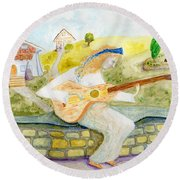 A Time For Music Round Beach Towel