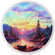 A Time For Peace Round Beach Towel