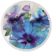 A Time To Bloom Round Beach Towel