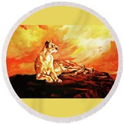 A Time To Relax Round Beach Towel