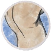 A Torso Round Beach Towel by Peter J Sucy
