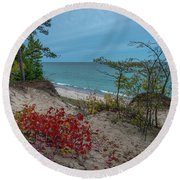 A Touch Of Color  Round Beach Towel