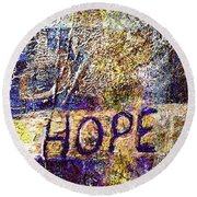 A Trace Of Hope Round Beach Towel by Rita Brown