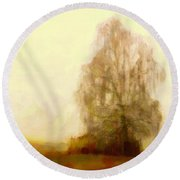 Round Beach Towel featuring the painting A Tree by Chris Armytage