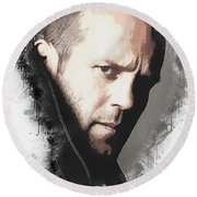 A Tribute To Jason Statham Round Beach Towel