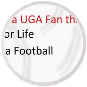 A Uga Thing Round Beach Towel