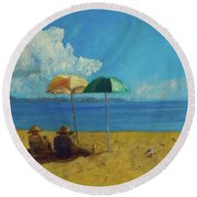 A Vacant Lot - Byron Bay Round Beach Towel